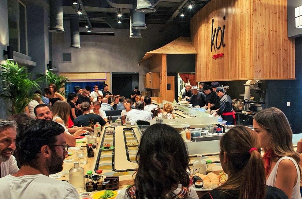 koi sushi bar franchise asian street food